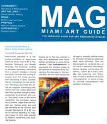 Miami Art Guide December 2008
